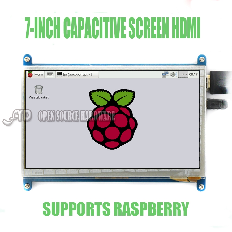 7 collu LCD displejs, HDMI displeja monitors Aveņu Pi3 800X480 1