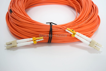 Bezmaksas Piegāde LC-LC fiber optic Patch cord,Duplex,MM,OM2 40meters,2mm šķiedras patch cord Multi-mode fiber